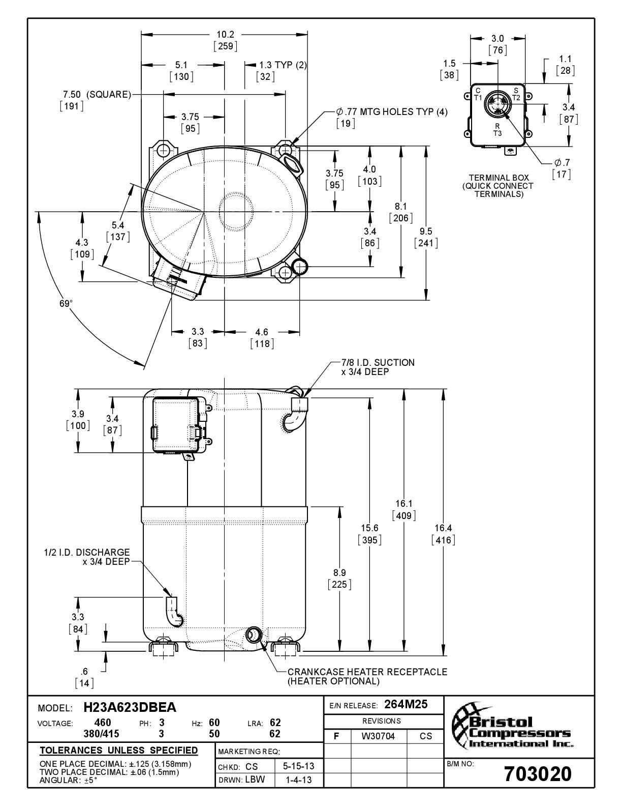 Bristol H23A623DBEA характеристики
