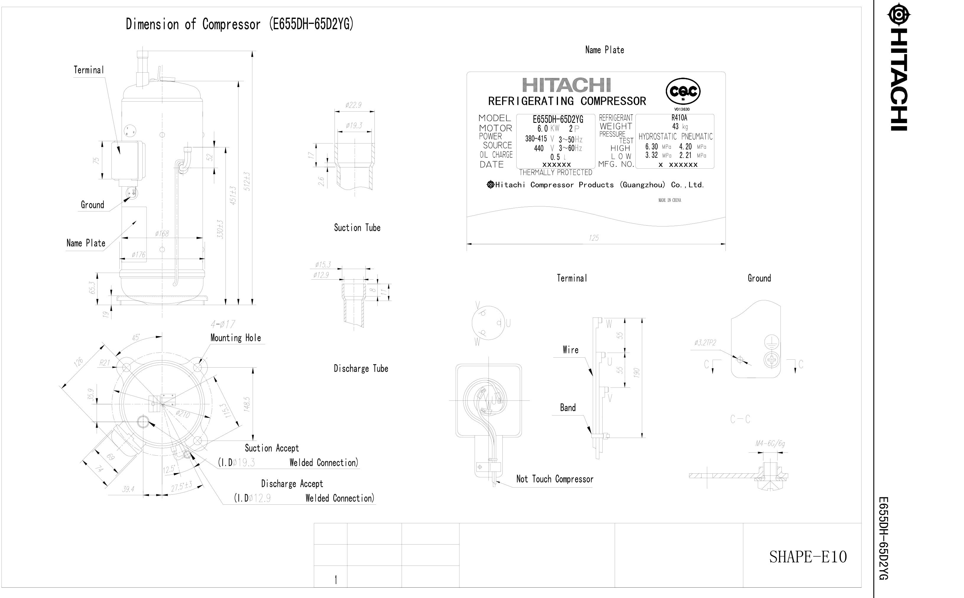 Hitachi E655DH-65D2YG характеристики