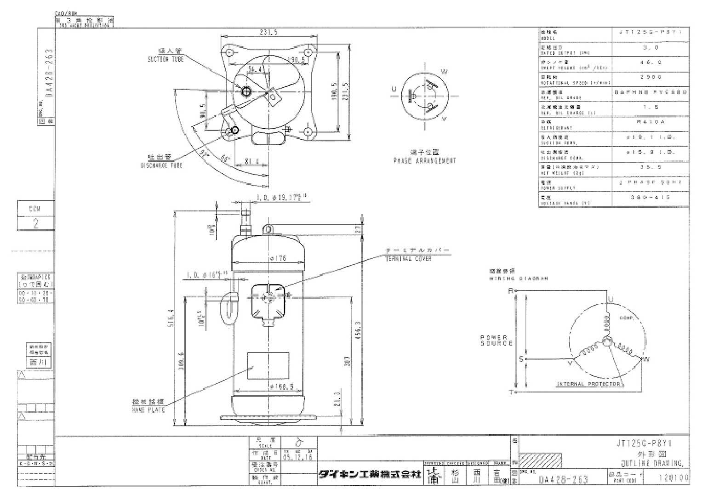 Daikin JT125G-P8Y1 характеристики