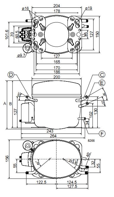 Чертеж компрессора FR7.5G