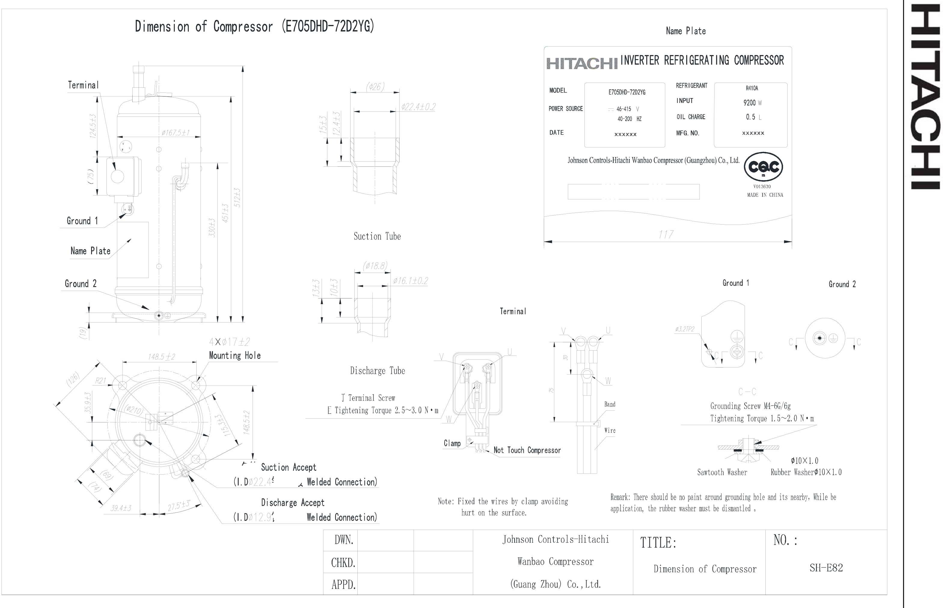 Hitachi E705DHD-72D2YG характеристики