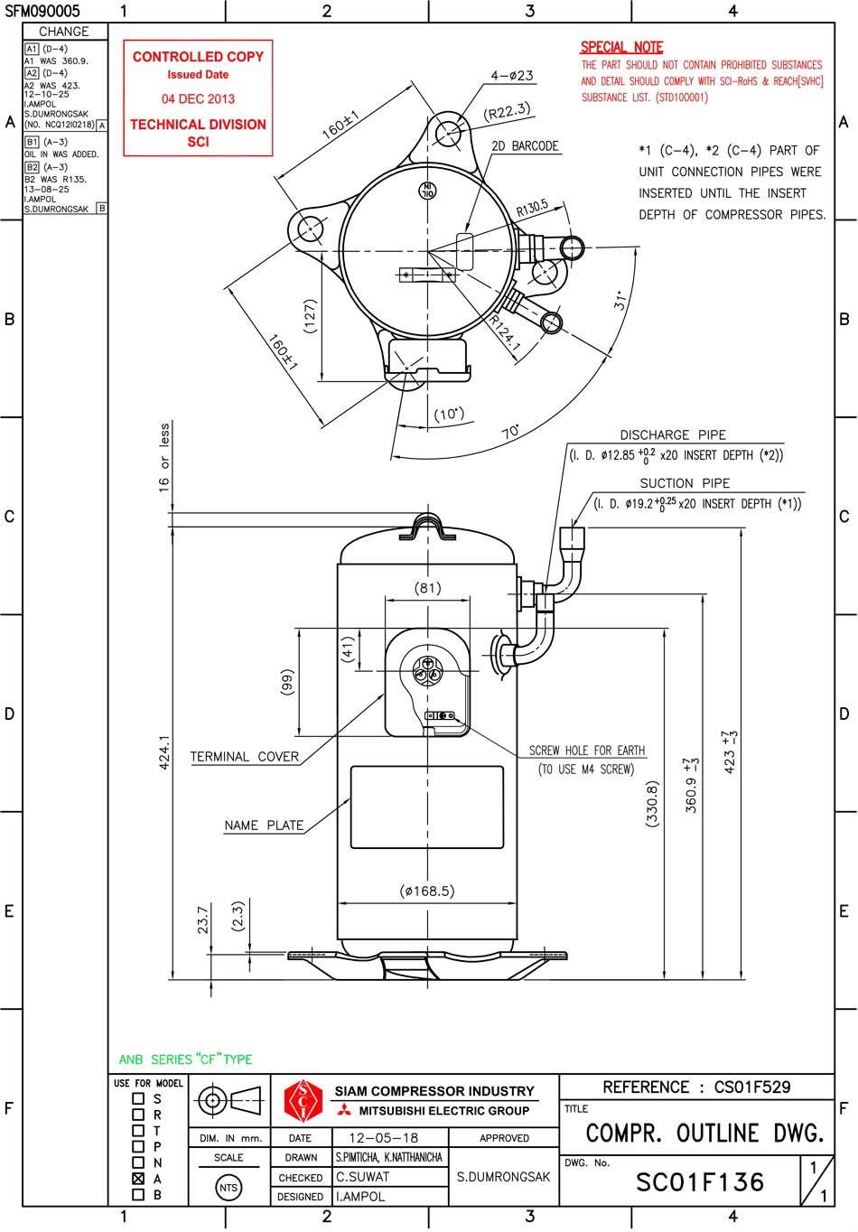Siam ANB42FCFMT характеристики