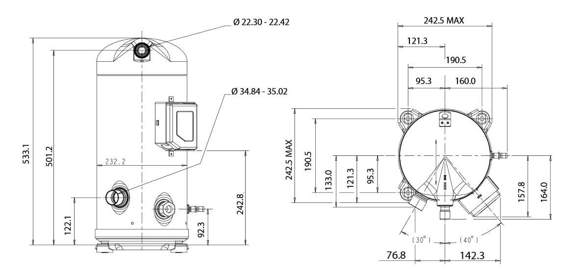 Чертеж Копланд ZR108KCE-TFD-455