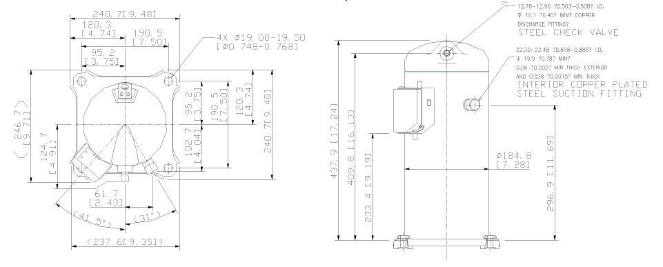 Чертеж Копланд ZR61К3E-TFD-522