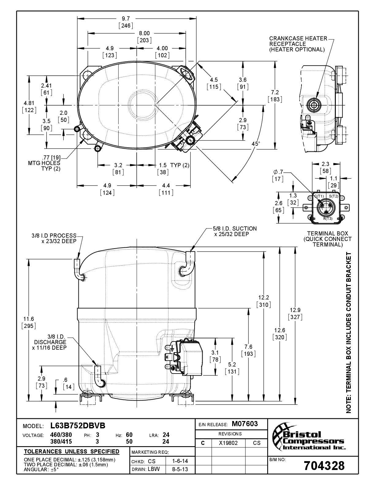 Bristol L63B752DBVB характеристики