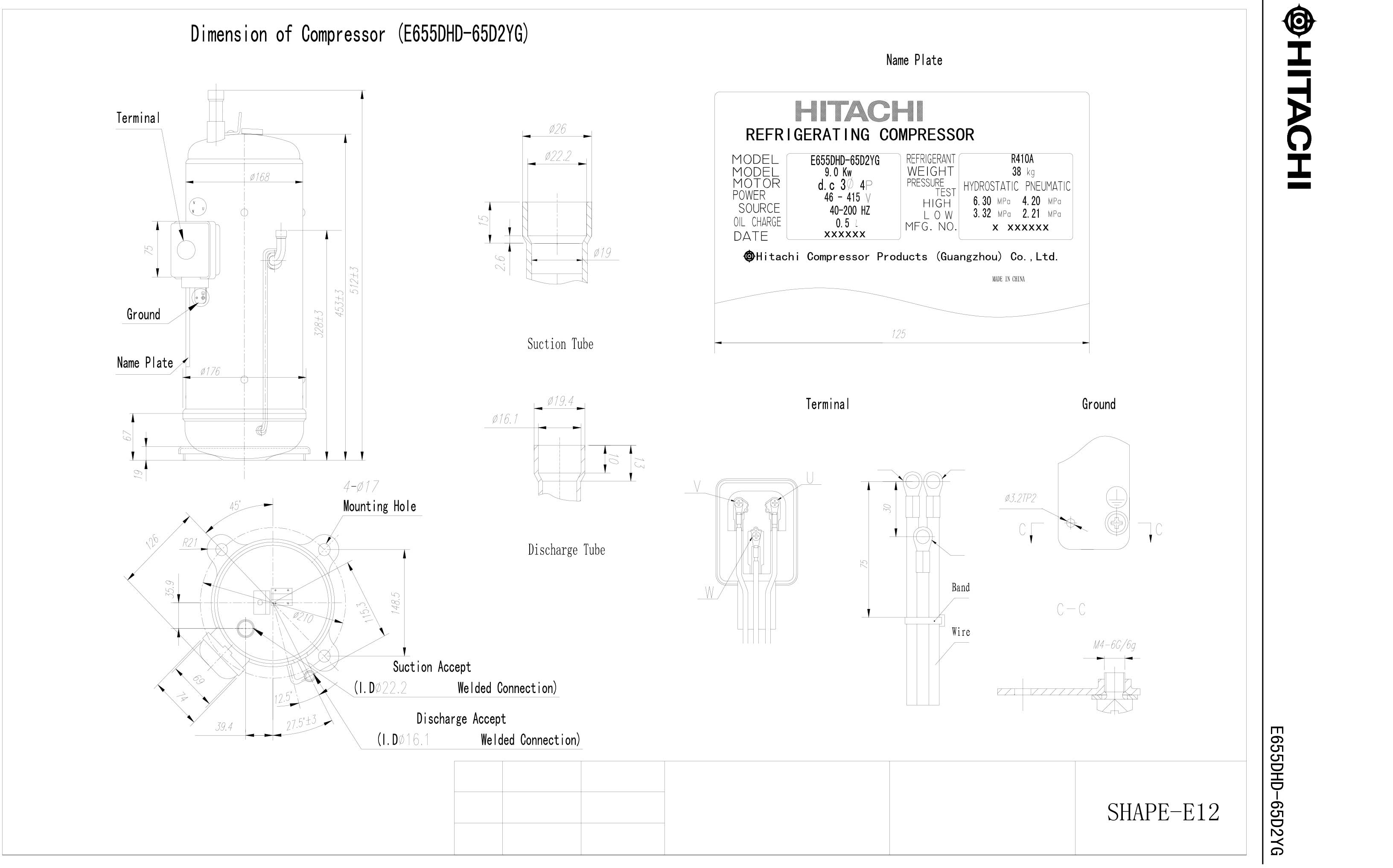 Hitachi E655DHD-65D2YG характеристики