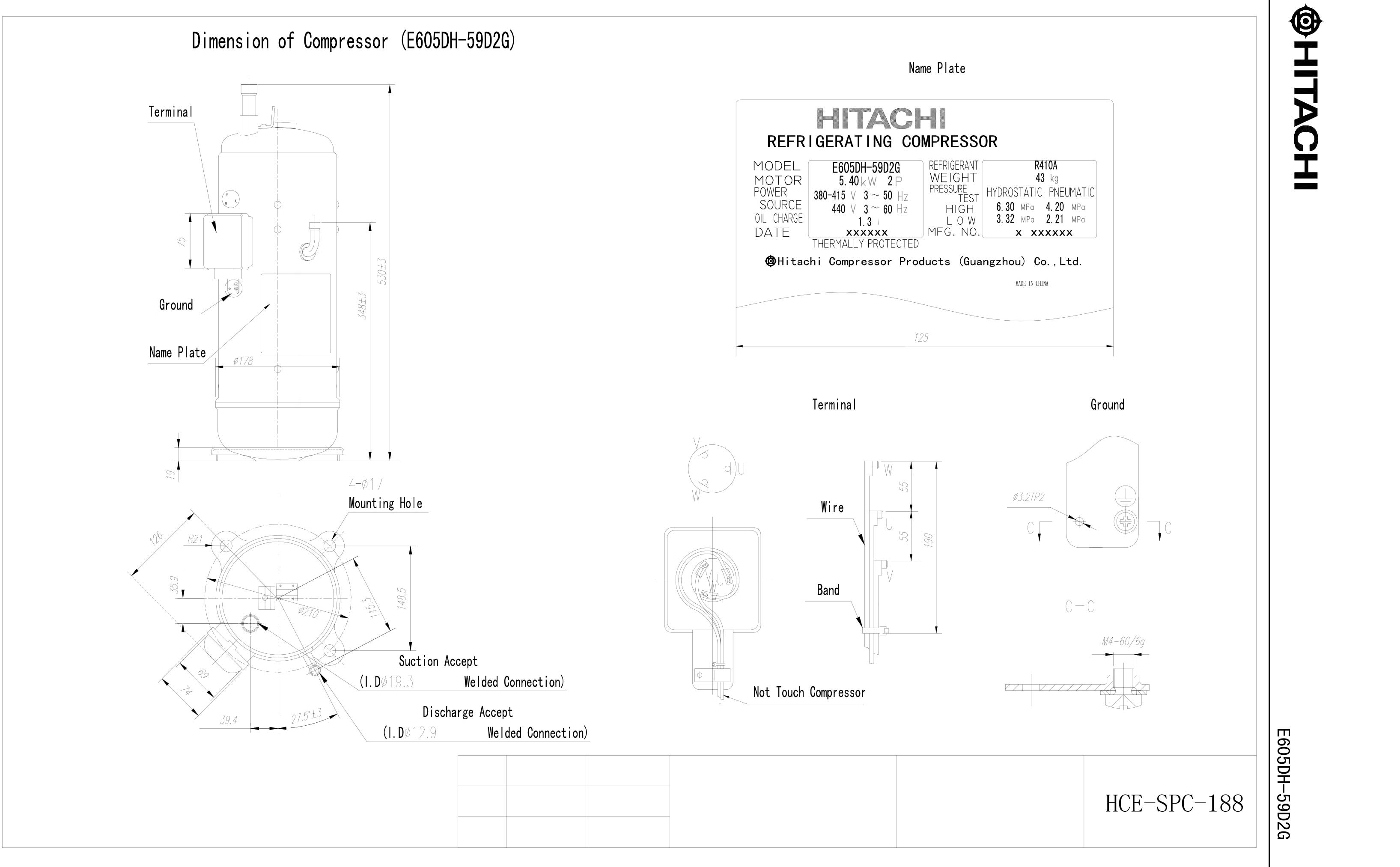 Hitachi E605DH-59D2YG характеристики