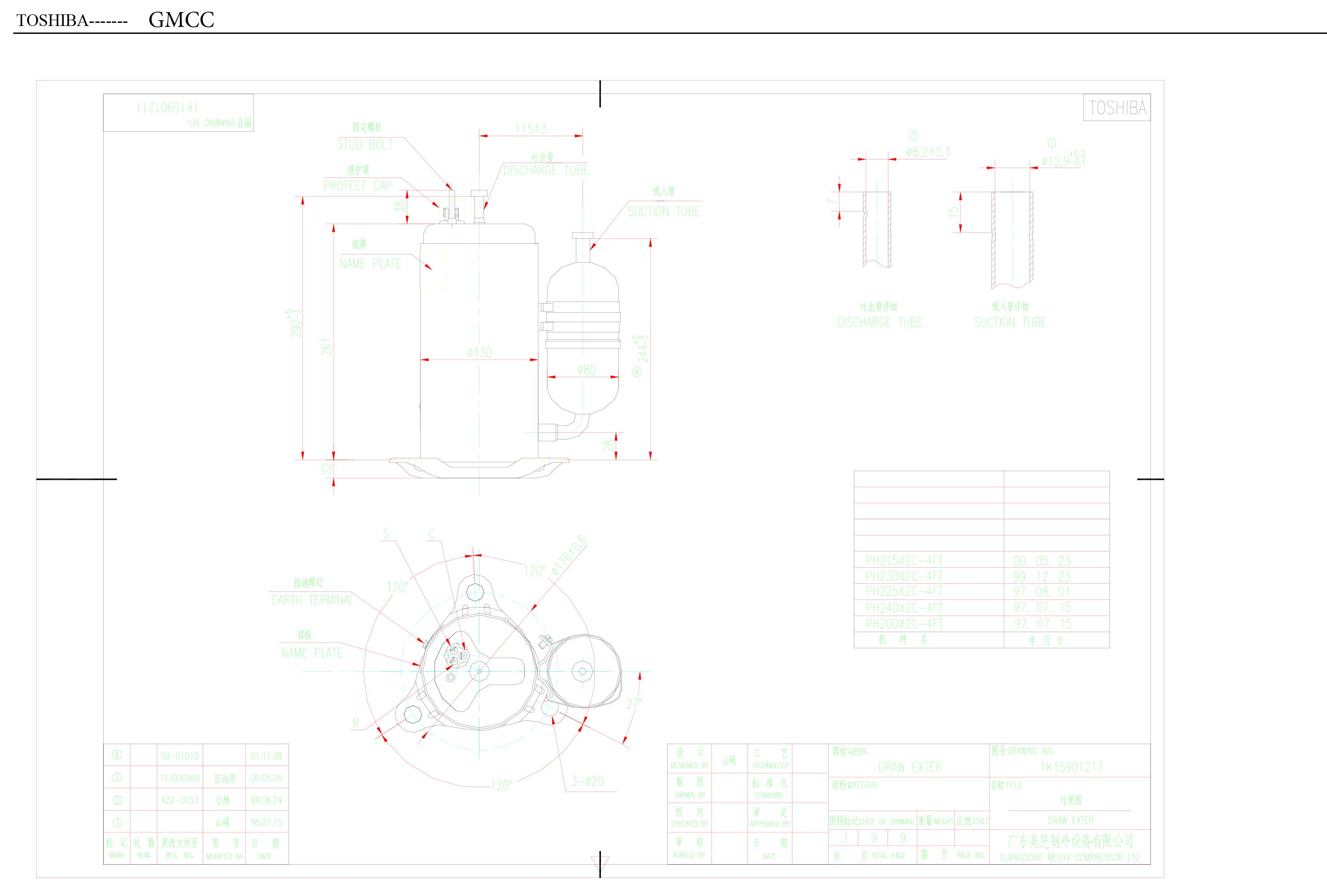 GMCC PH225X2C-4FT характеристики