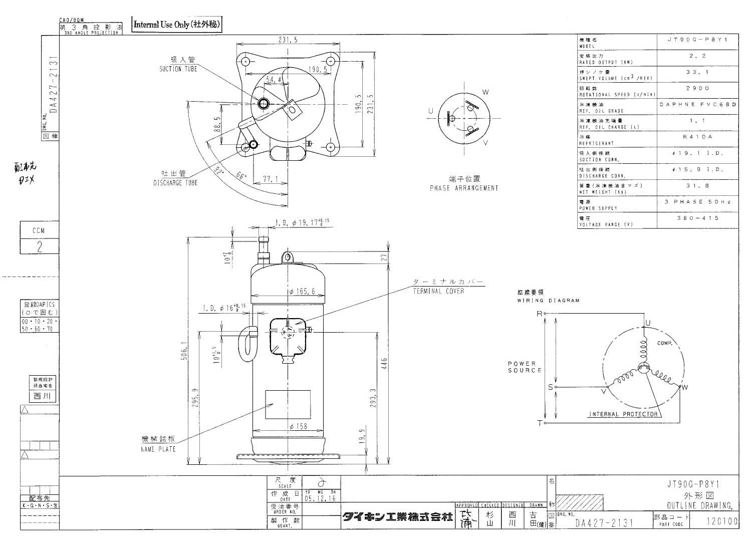 Daikin JT90G-P8Y1 характеристики