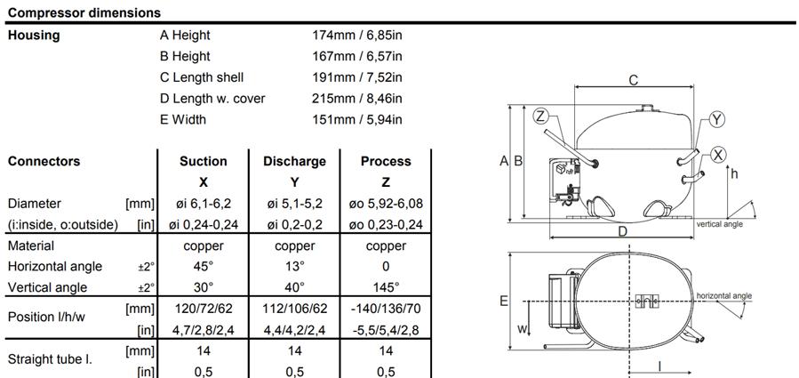 Чертеж компрессора GTK70AT
