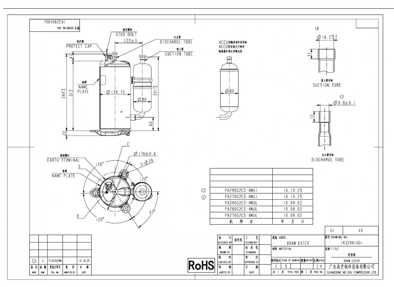 GMCC PA290G2CS-4MU1 характеристики
