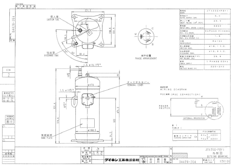 Daikin JT125G-P8V1 характеристики