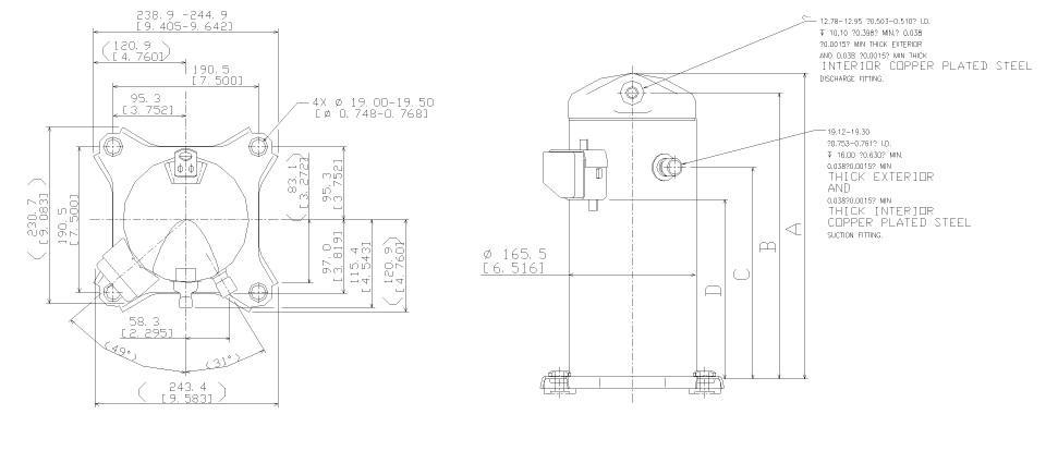 Чертеж Копланд ZR34К3E-TFD-522